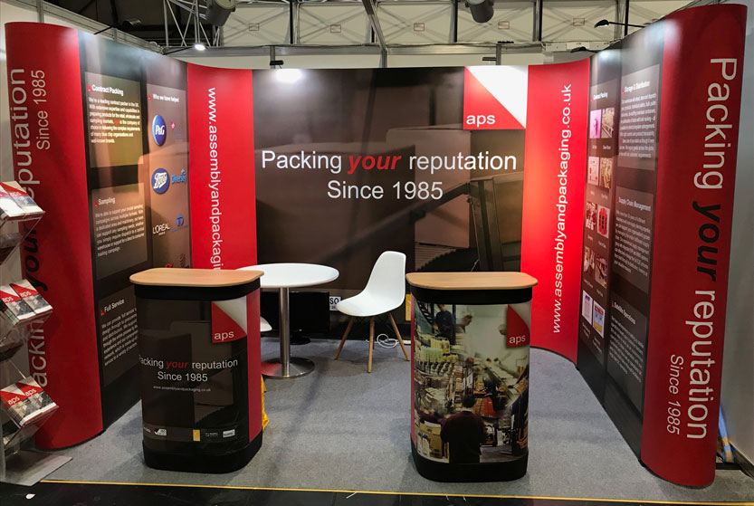 aps stand at the Contract Pack 2019 exhibition.